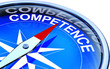 compass pointing to competence